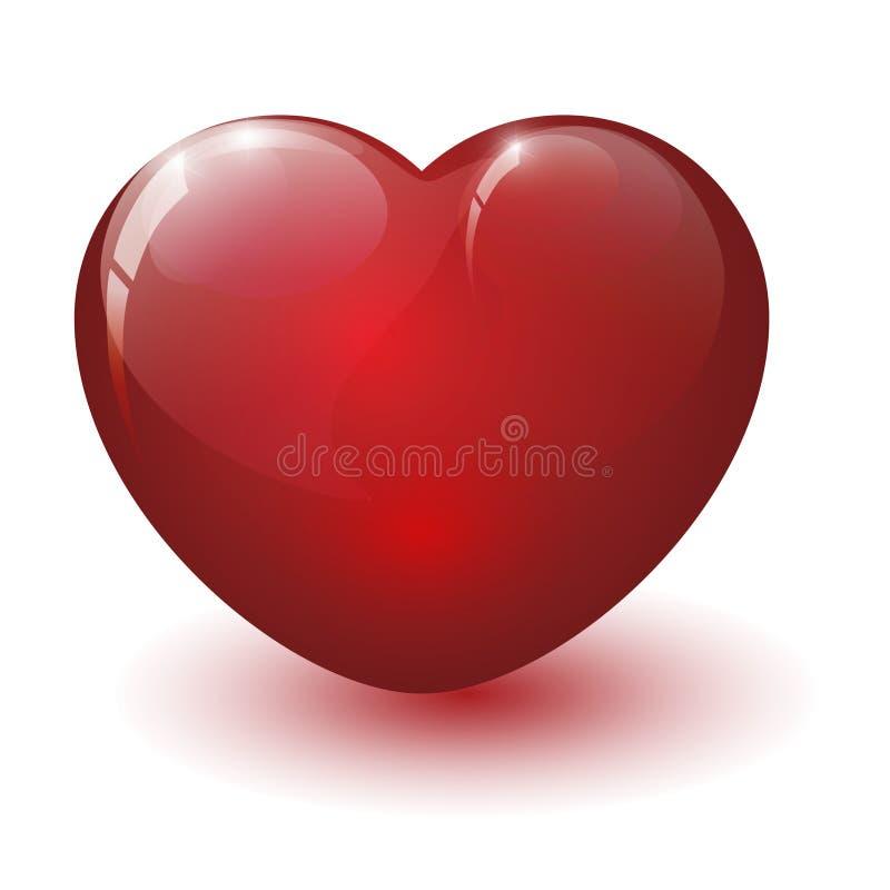 Лоснистое разбитый сердце иллюстрация вектора