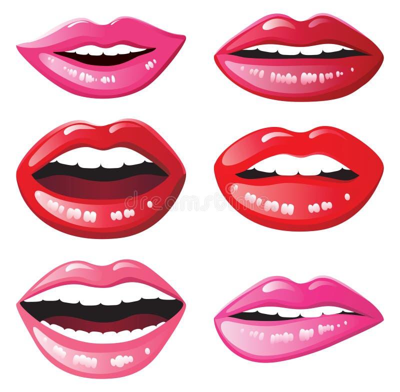 лоснистые губы иллюстрация штока