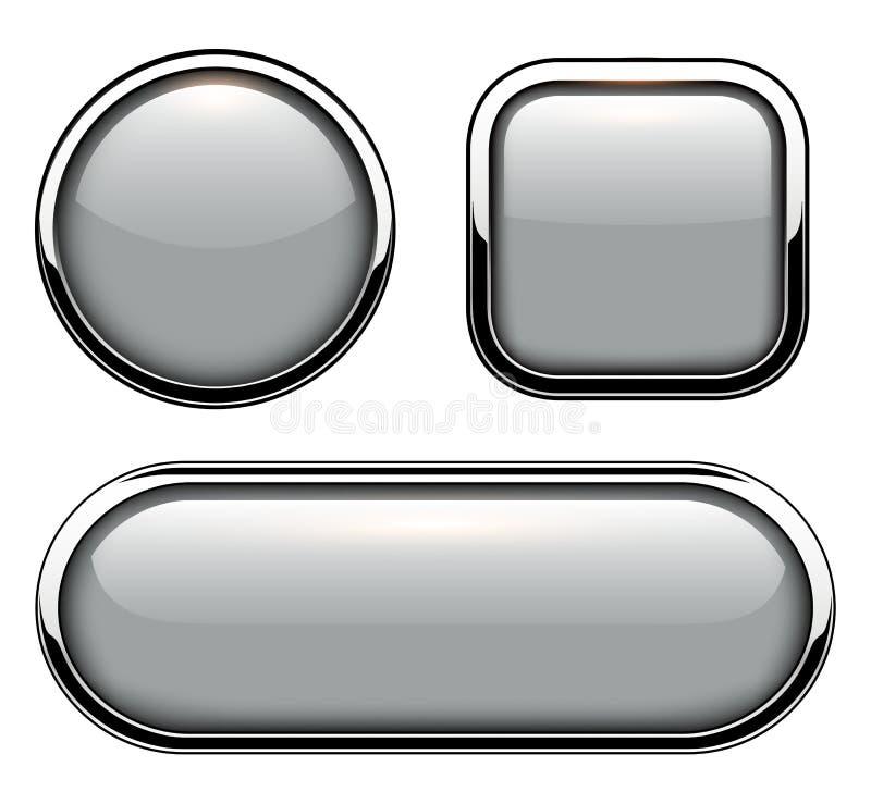 Лоснистые изолированные кнопки бесплатная иллюстрация
