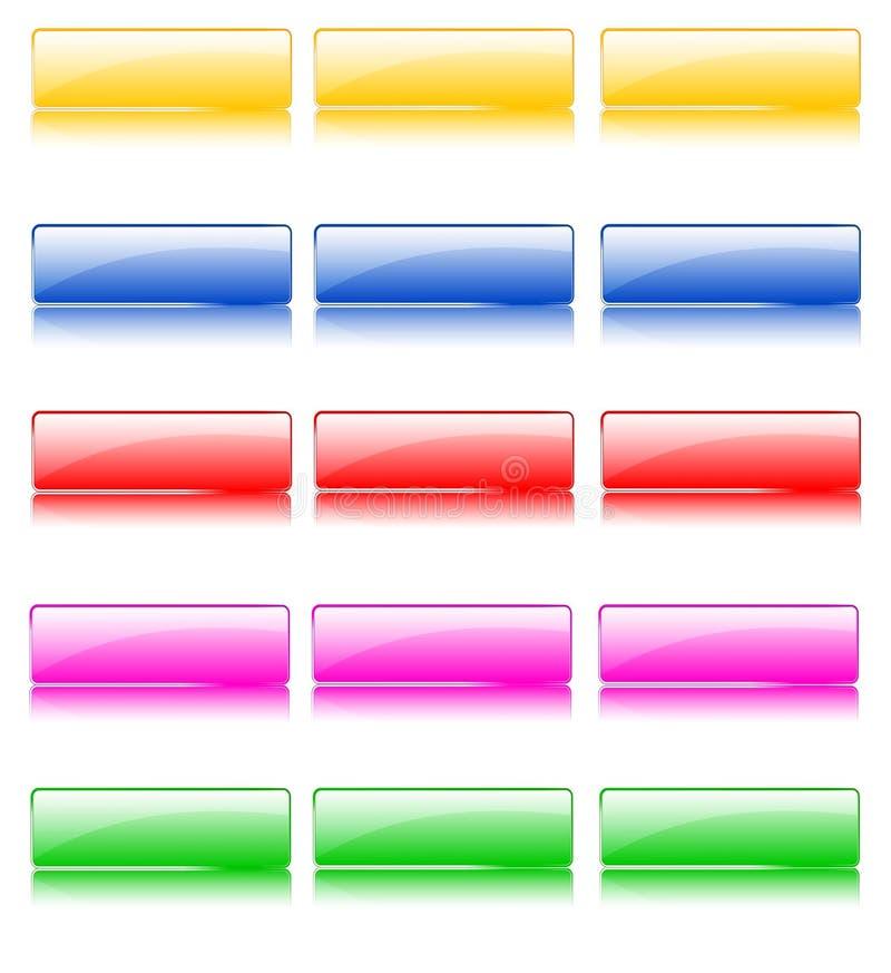 Лоснистые кнопки сети бесплатная иллюстрация