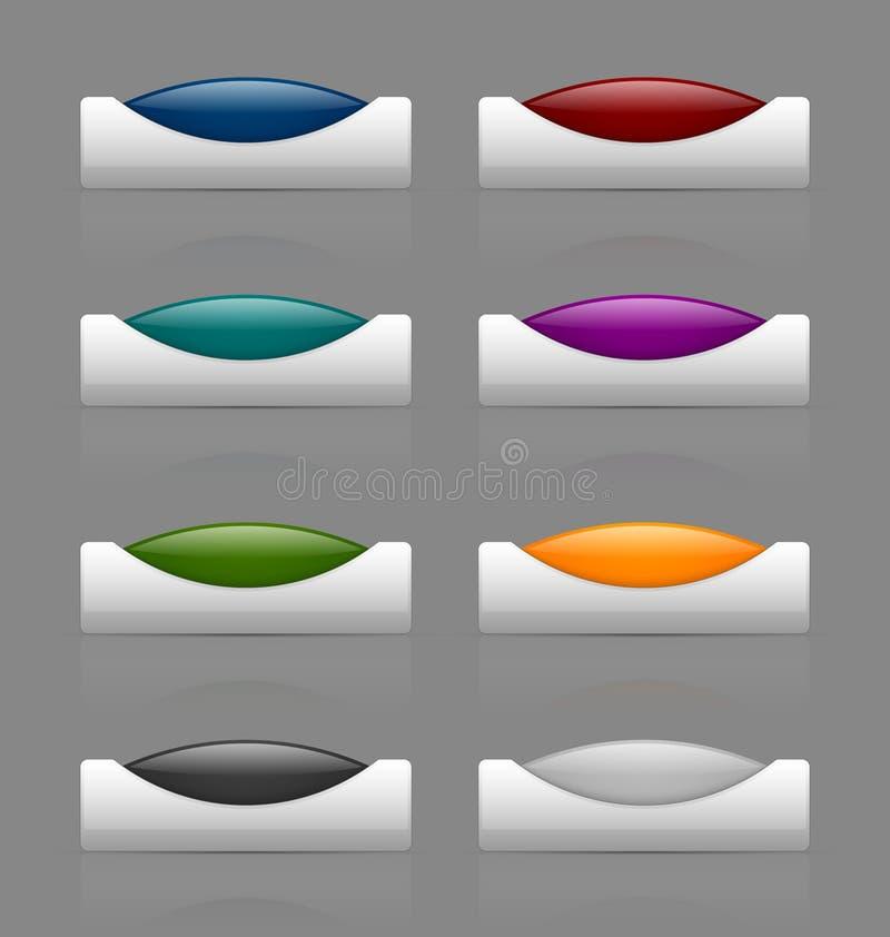Лоснистые кнопки иллюстрация вектора