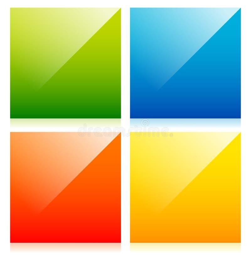 Лоснистые красочные квадраты с пустым пространством иллюстрация вектора