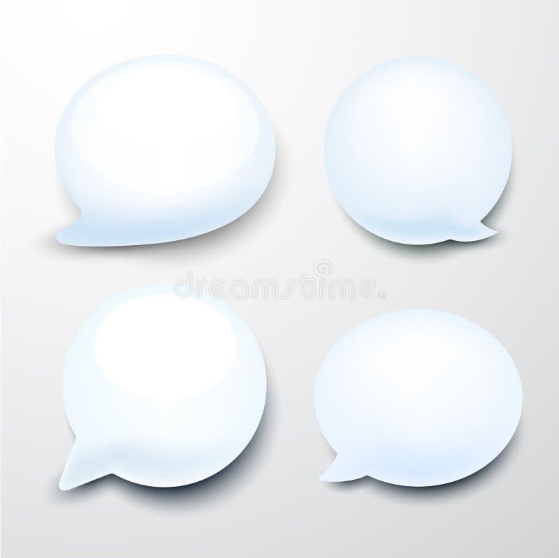 Лоснистые пузыри речи. иллюстрация вектора