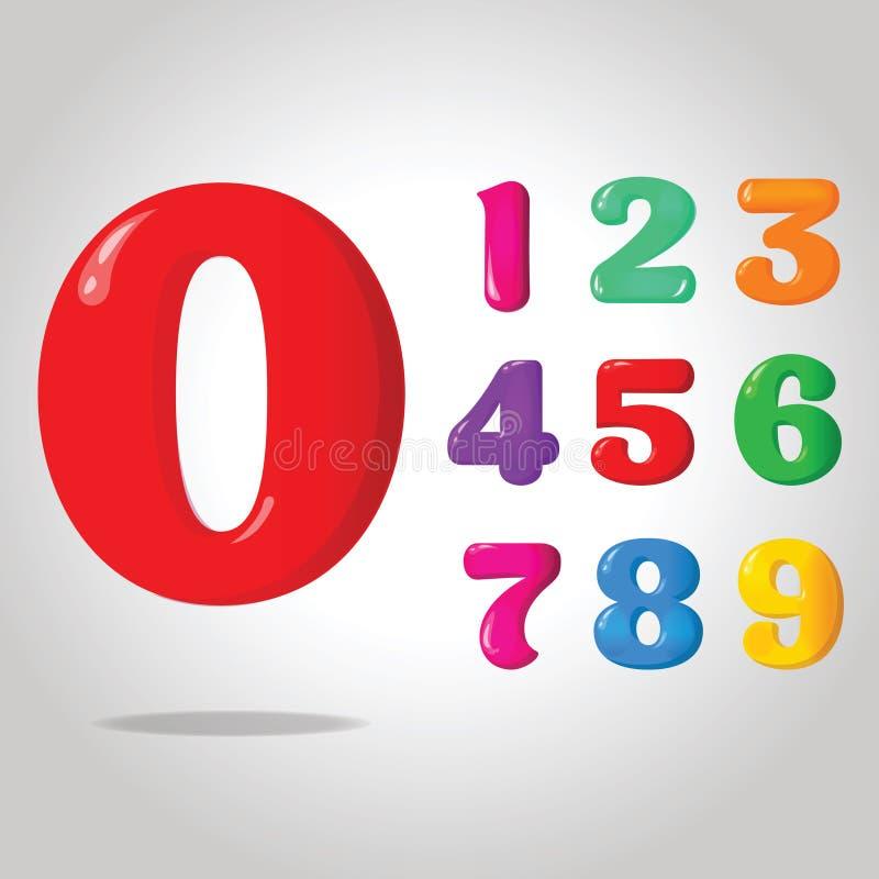 Лоснистые числа цвета стоковое изображение