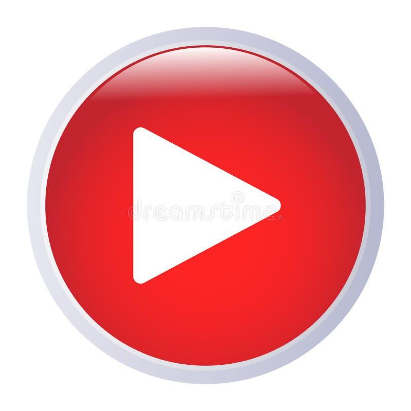 Лоснистый вектор eps иллюстрации кнопки игры бесплатная иллюстрация