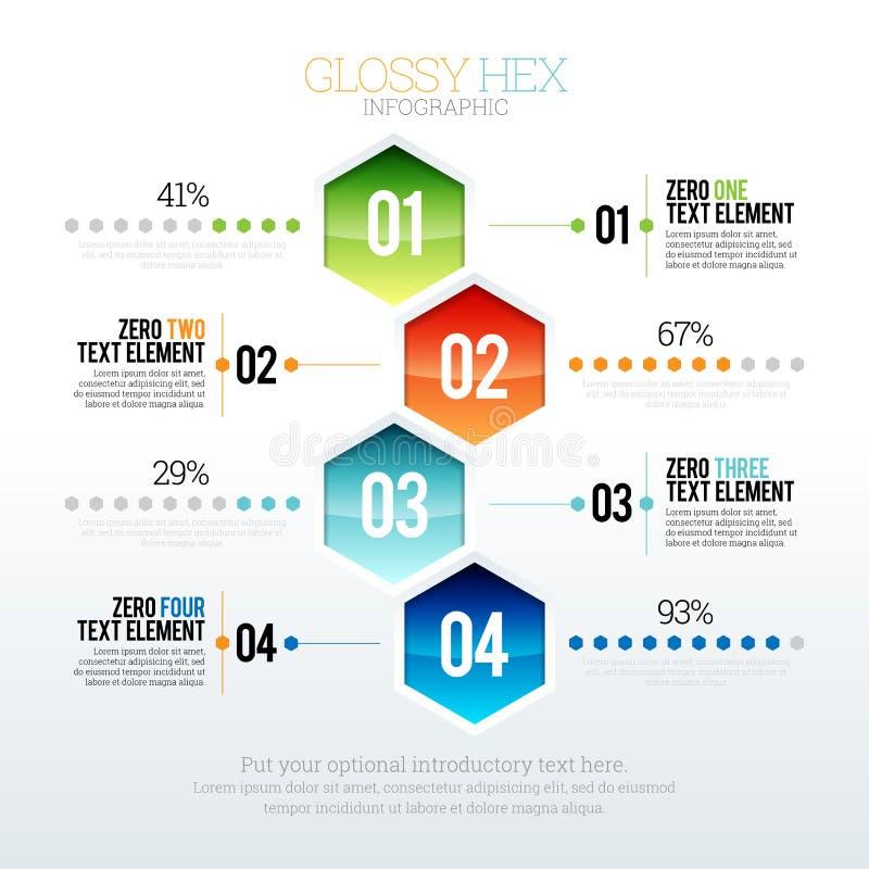 Лоснистый наговор Infographic иллюстрация штока