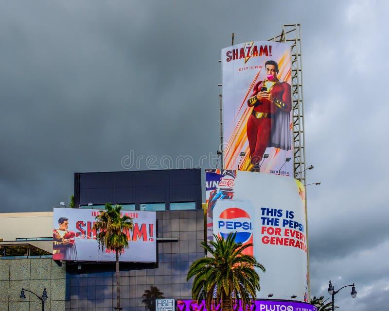 Лос Анджелес-Голливуд & афиши гористой местности стоковое фото rf