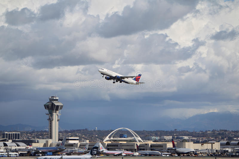 Delta Airlines Эрбас A320-212 стоковое изображение rf
