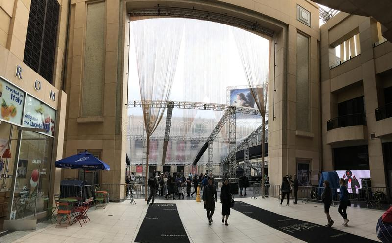 ЛОС-АНДЖЕЛЕС - 21-ОЕ ФЕВРАЛЯ: Подготовки Оскара на театре Dolby, 2017 в Голливуде, Лос-Анджелес, Калифорния стоковое фото rf