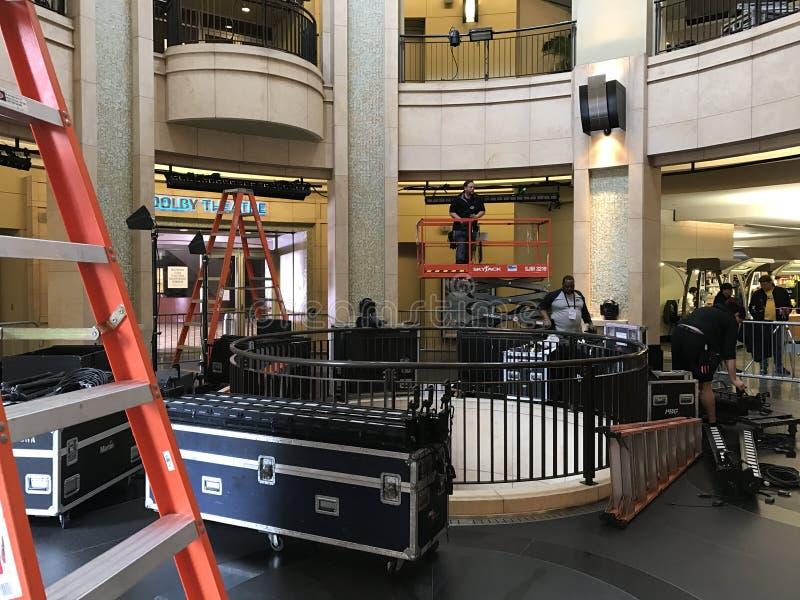 ЛОС-АНДЖЕЛЕС - 21-ОЕ ФЕВРАЛЯ: Подготовки Оскара на театре Dolby, 2017 в Голливуде, Лос-Анджелес, Калифорния стоковая фотография rf