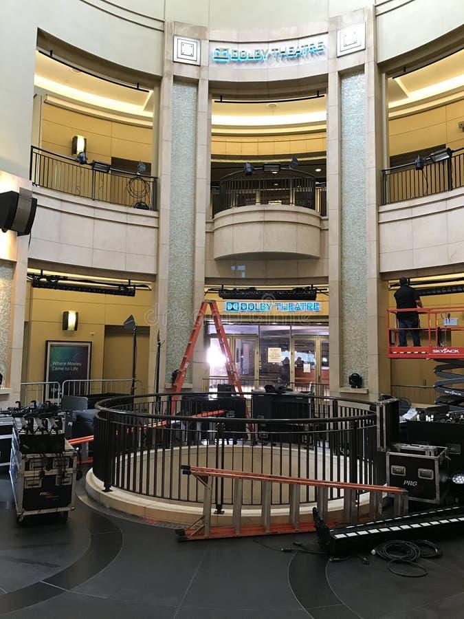 ЛОС-АНДЖЕЛЕС - 21-ОЕ ФЕВРАЛЯ: Подготовки Оскара на театре Dolby, 2017 в Голливуде, Лос-Анджелес, Калифорния стоковое фото