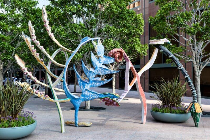 ЛОС-АНДЖЕЛЕС, CALIFORNIA/USA - 28-ОЕ ИЮЛЯ: Современное искусство улицы стоковая фотография rf