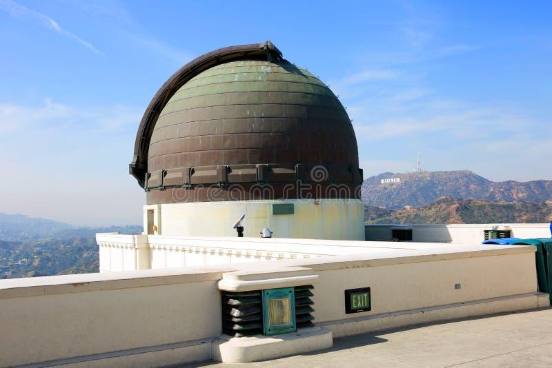 Лос-Анджелес, CA Обсерватория Griffith стоковые изображения rf
