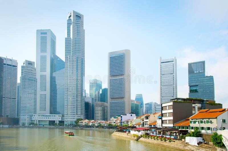 Лотереи устанавливают, набережная шлюпки Сингапур стоковое фото rf