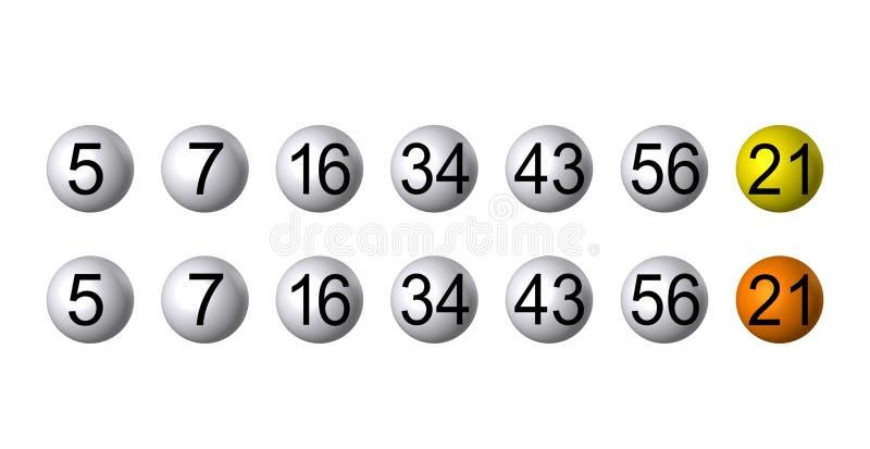 лотерея bingo шариков иллюстрация штока