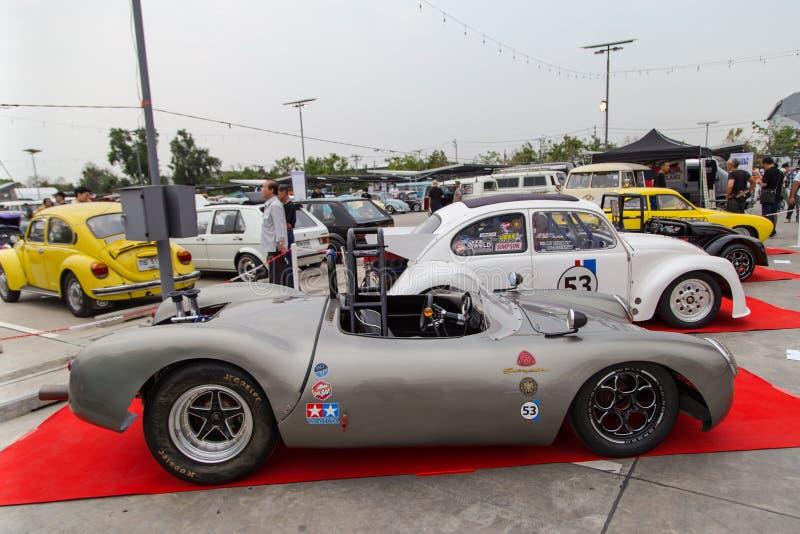 Лотос и жук VW показывают в встрече клуба VW стоковые фото