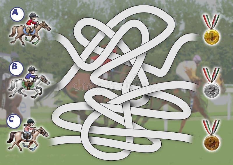 лошадиные скачки игры иллюстрация вектора