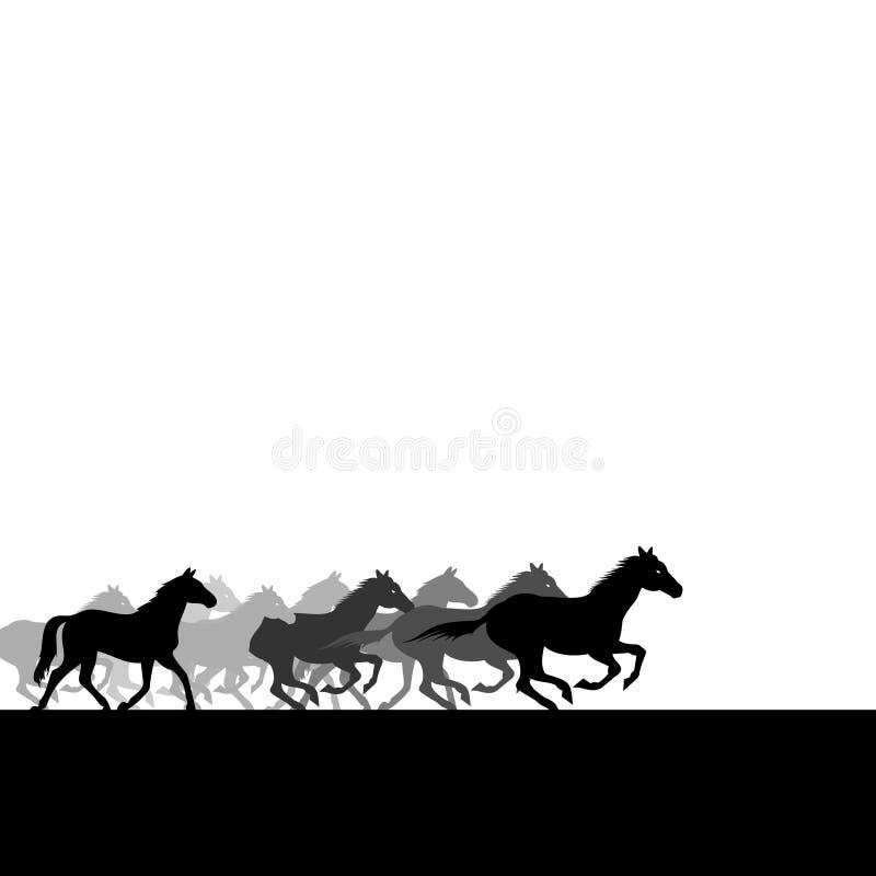 лошади табуна иллюстрация штока