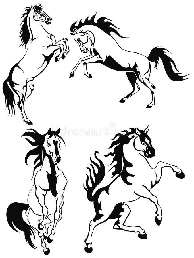 лошади иллюстрация вектора