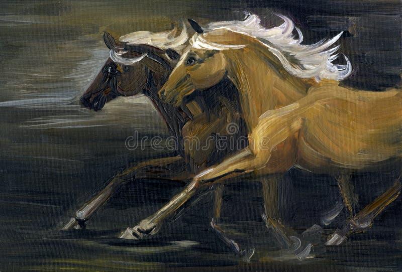 лошади 2 иллюстрация вектора