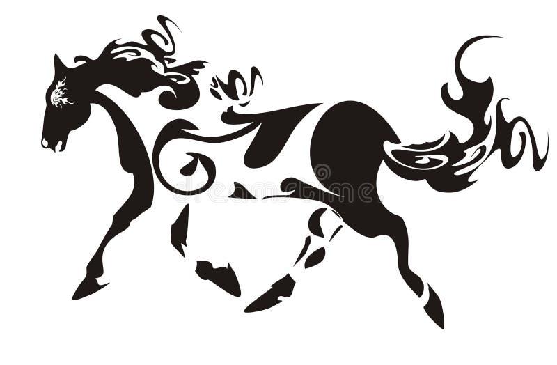 лошадь богато украшенный иллюстрация вектора