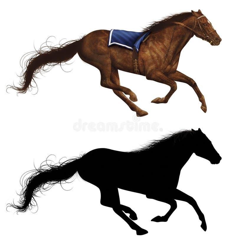 Лошадь гонки бесплатная иллюстрация