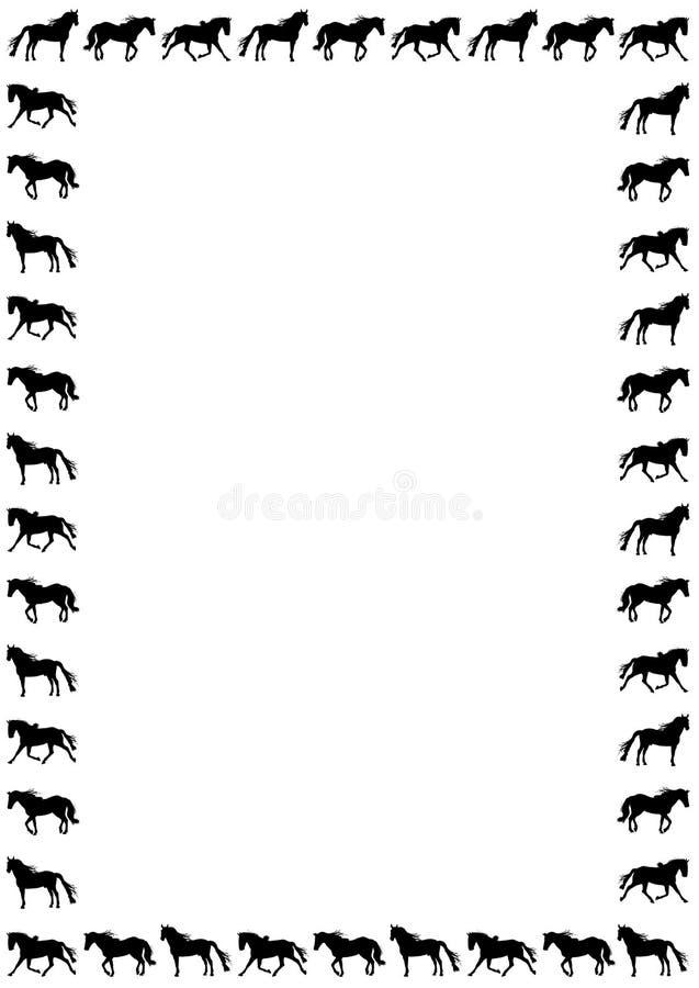 лошадь граници иллюстрация штока