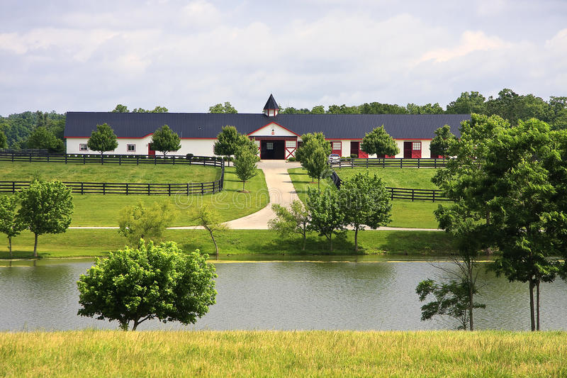 лошадь Кентукки амбара стоковая фотография