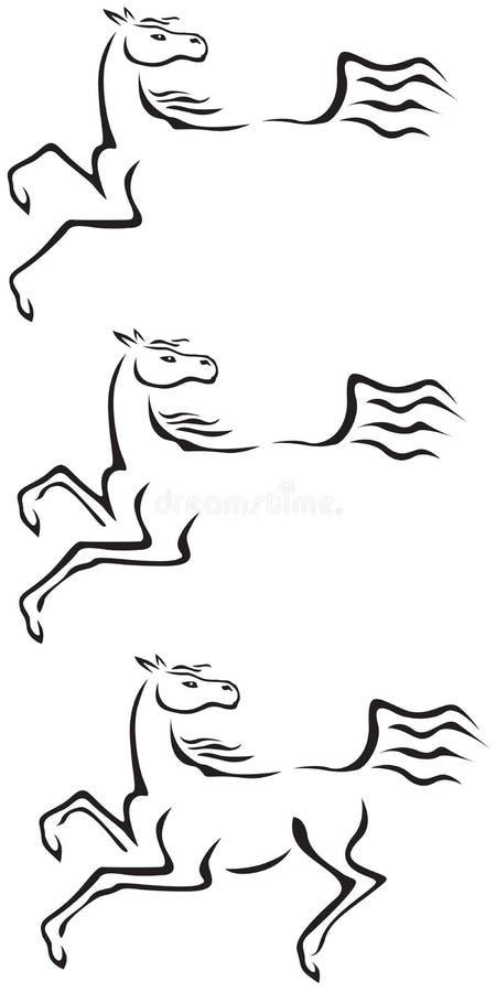 лошадь контура бесплатная иллюстрация