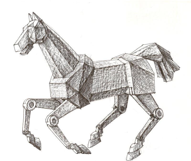 лошадь механически иллюстрация вектора