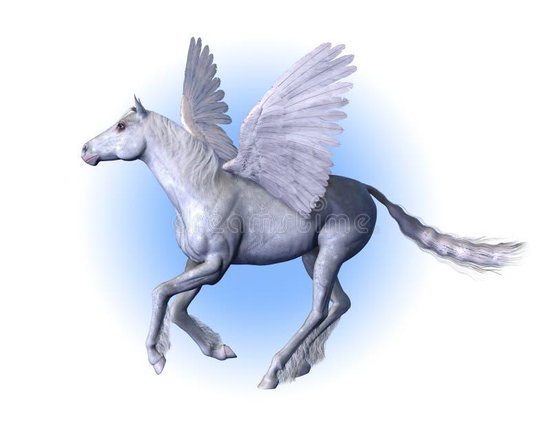 лошадь подогнали pegasus, котор иллюстрация вектора