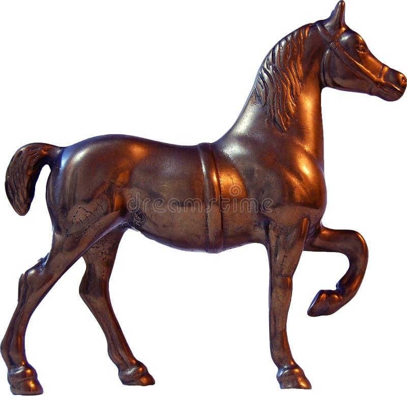 Лошадь, статуя металла лошади стоковые фотографии rf