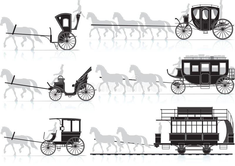 лошадь тележки бесплатная иллюстрация