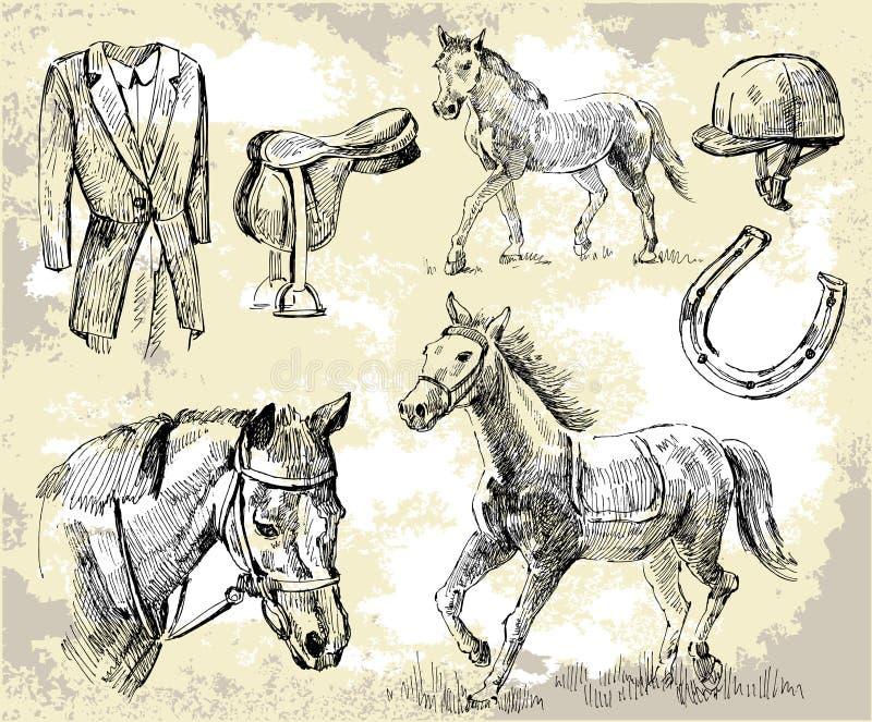 лошадь формирует вектор иллюстрация вектора