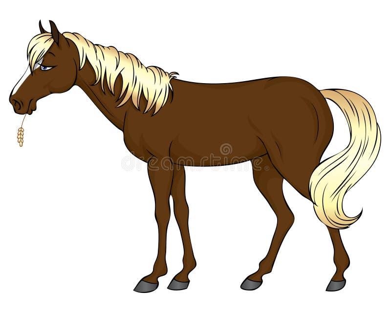 лошадь шаржа иллюстрация штока