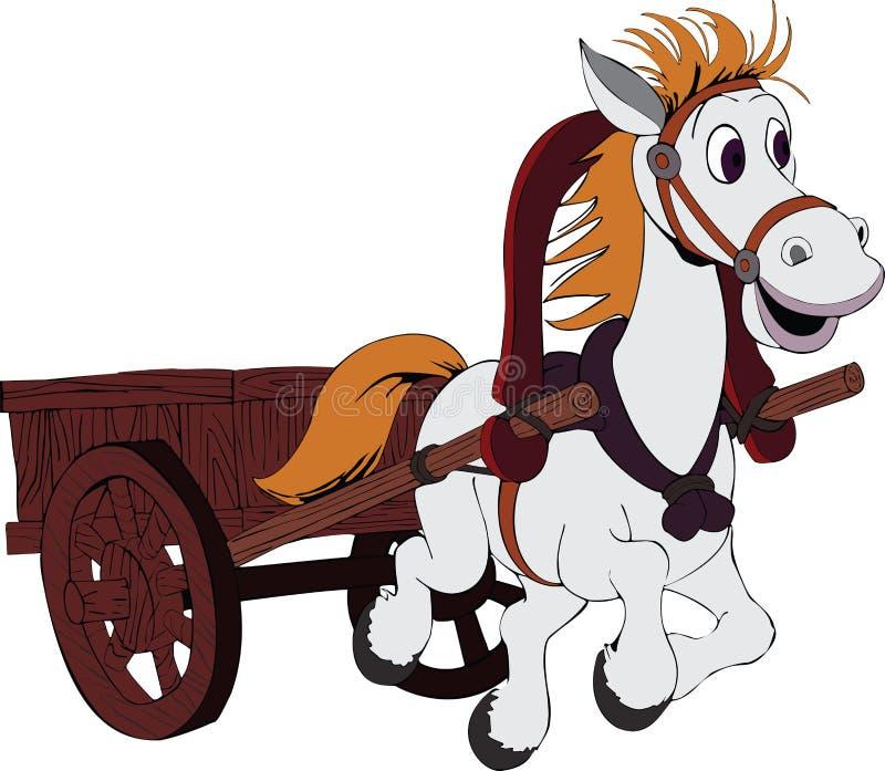 Картинка лошадка с повозкой