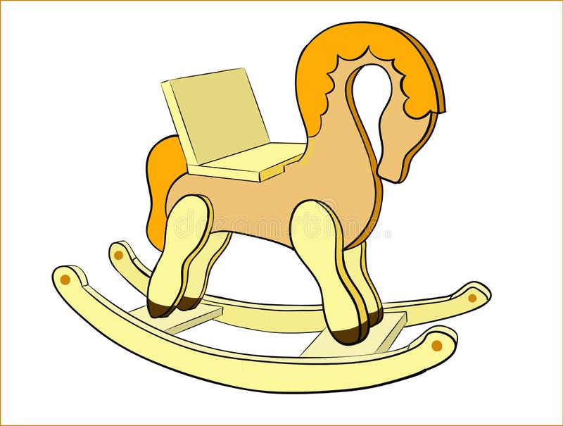 Лошадь ` s детей тряся иллюстрация вектора