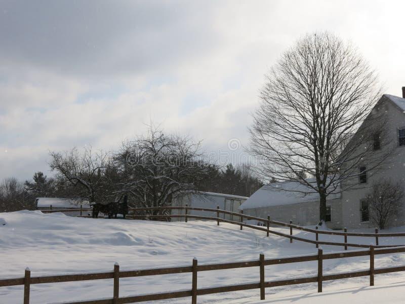Зима в Вермонте стоковое изображение rf