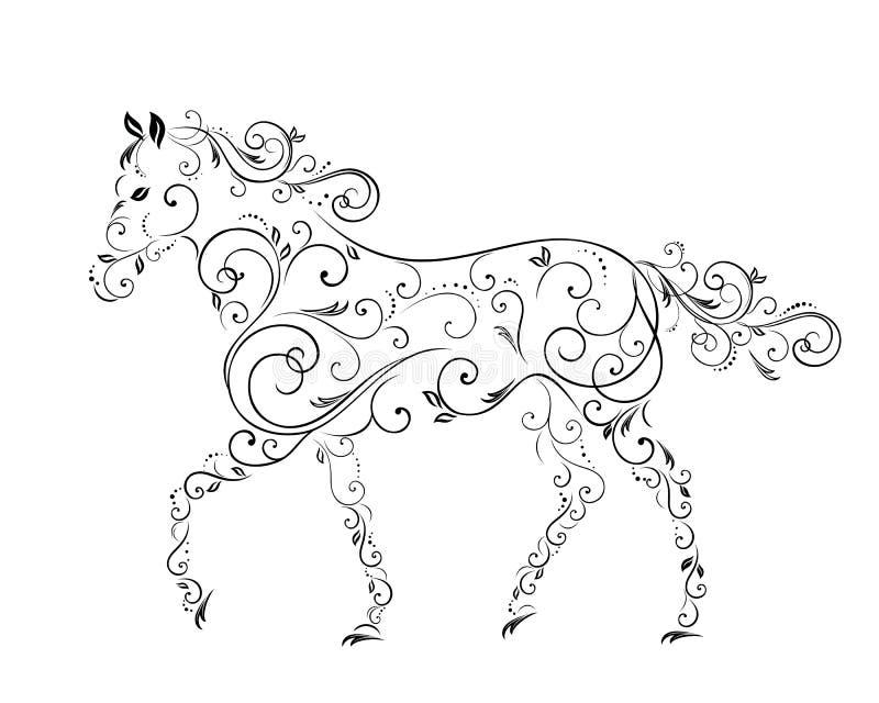 Лошади от скручиваемостей стоковые изображения rf