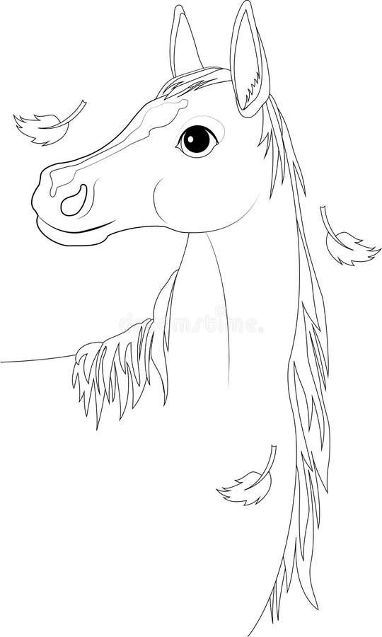 Лошадь, аutumn бесплатная иллюстрация