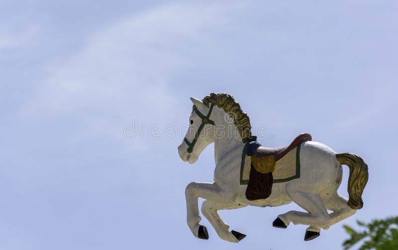 Лошадь летания от carousel стоковое фото