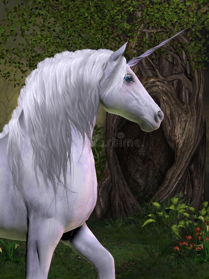 Лошадь единорога иллюстрация вектора