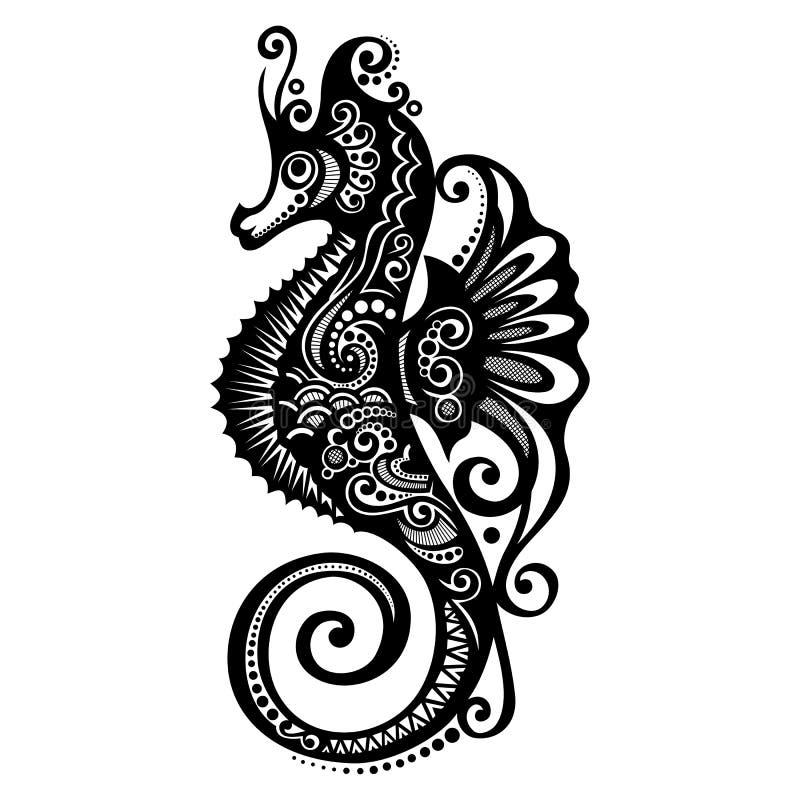 Лошадь моря вектора иллюстрация штока