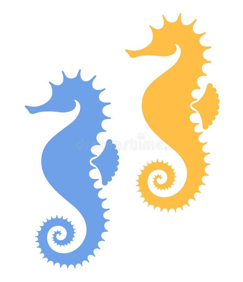 Лошадь моря иллюстрация штока