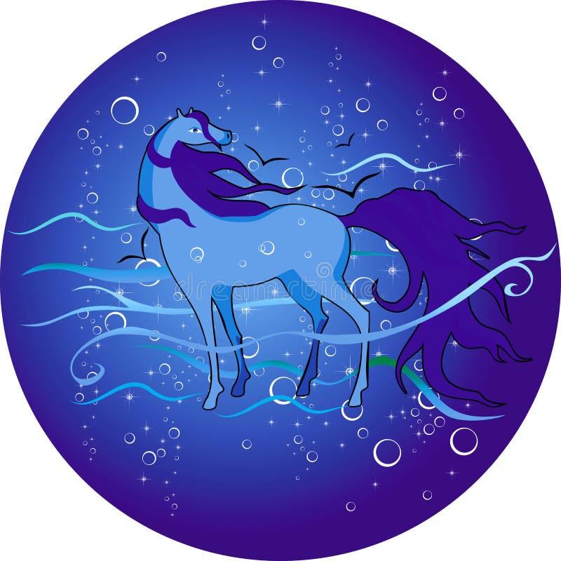 Download Лошадь моря иллюстрация вектора. иллюстрации насчитывающей украшение - 33738430