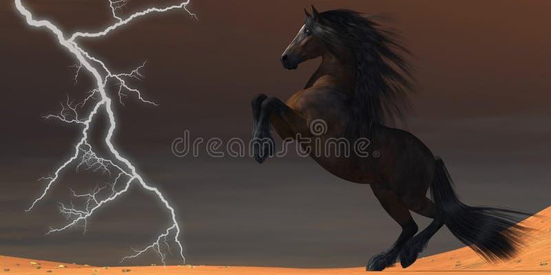 Лошадь молнии пустыни иллюстрация вектора