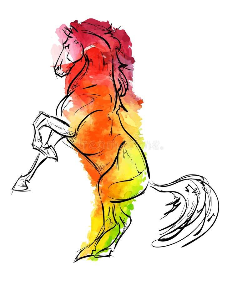 Лошадь поднимать иллюстрация вектора
