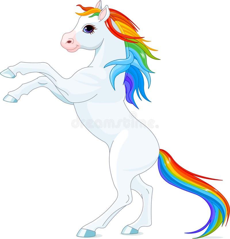 Лошадь радуги иллюстрация штока