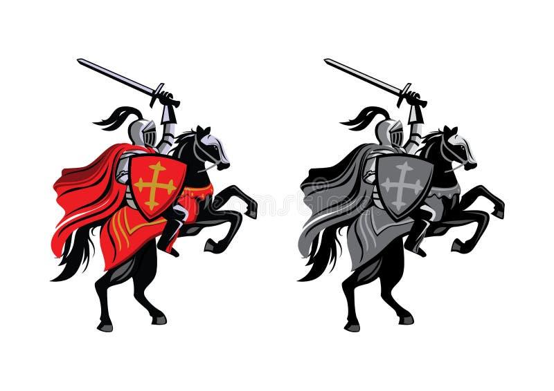 Лошадь рыцаря иллюстрация штока
