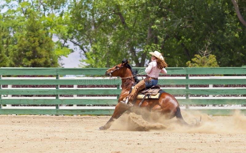 Лошадь сползая стоп стоковая фотография